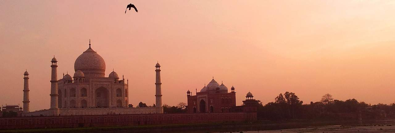 Taj Mahal at Sunset during our Travel To India