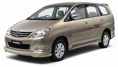 Toyota Innova for travel India by car and driver