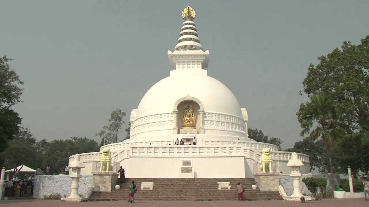 Photo of peace pagoda from our Vaishali travel guide
